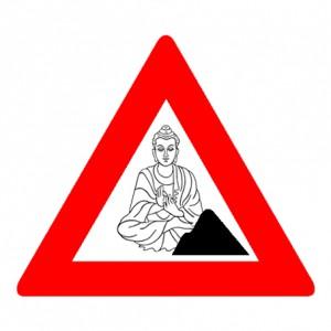Boeddhisme in uitvoering. Werk in uitvoering. (c) Maarten Barckhof