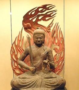 Vredig vechten, boeddhistische godheid Fudo Myo-o