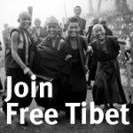 Free Tibet join, foto Free Tibet Londen.