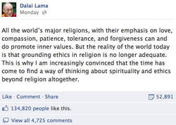 dalai lama atheist facebook