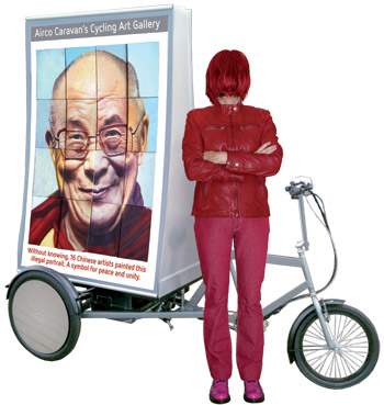 Dalai Lama illegaal portret