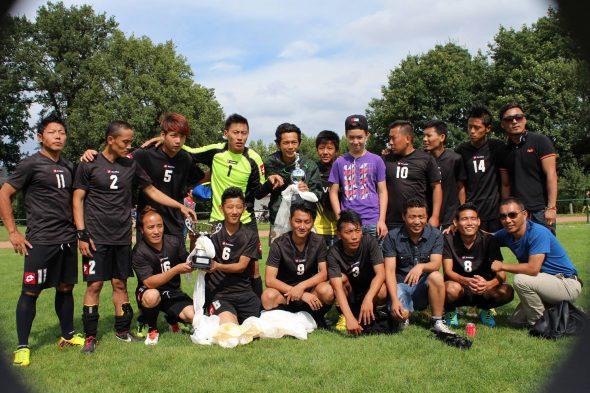 Voetbal elftal vier