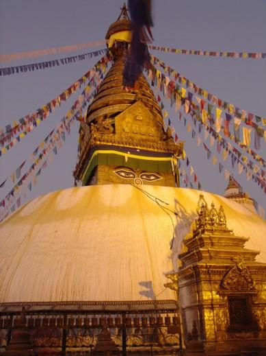 Swayambhunath, Nepal, foto Dick Verstegen.