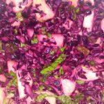 salade met rodekool appel en munt