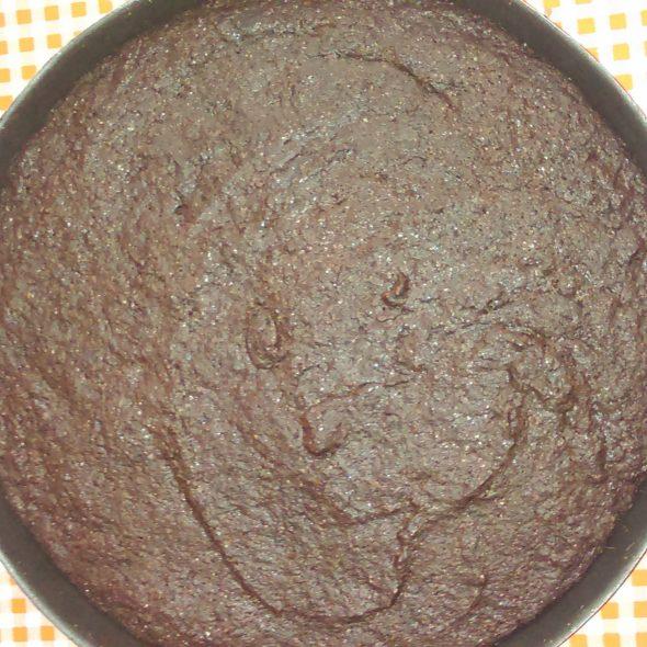 browniekoek in vlaaivorm
