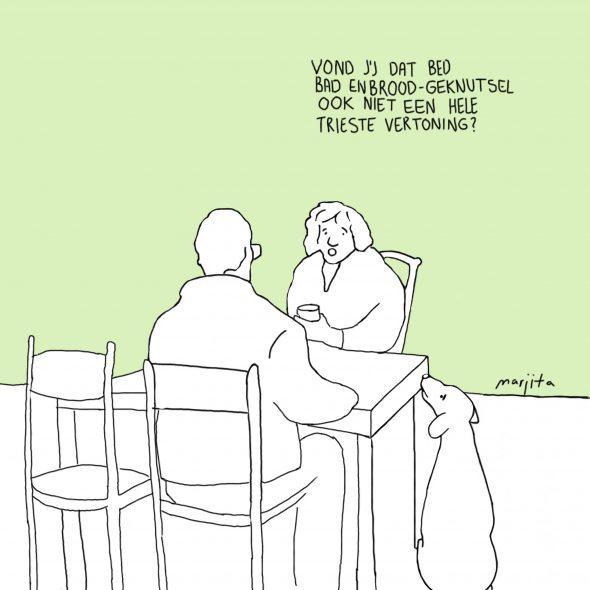 Bed bad en brood cartoon