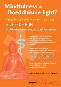 Boeddhahuis Rotterdam meditatie en boeddhisme light 2015 flyer