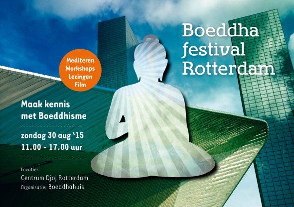 Boeddhafestival Rotterdam flyer voor