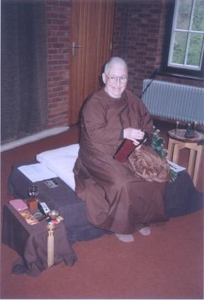 Ayya Khema in de volksabdij te Ossendrecht, 1994
