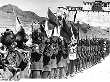 Leger Tibet, foto Bundesarchiv ,troepenparade 1938
