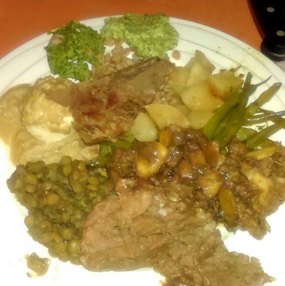 Beter alle romeinse gerechten op een bord
