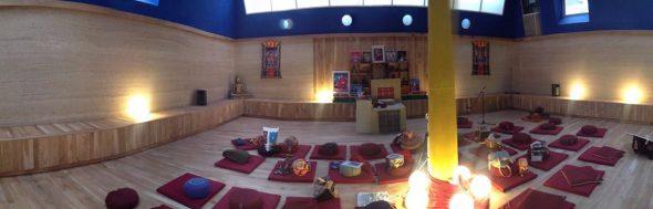 Meditatieruimte in het nieuwe centrum.