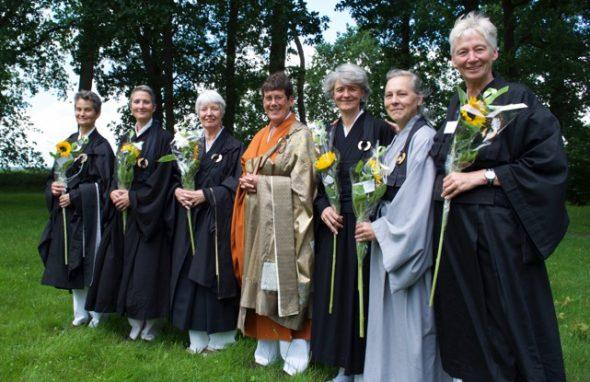 Noorder Poort ordinatie leerlingen tot zenleraar juni 2016