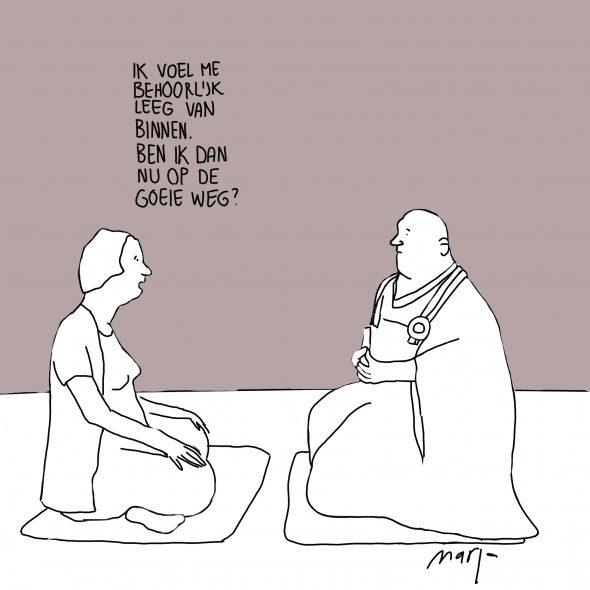 Cartoon ik voel me behoorlijk leeg van binnen 21 8 2016
