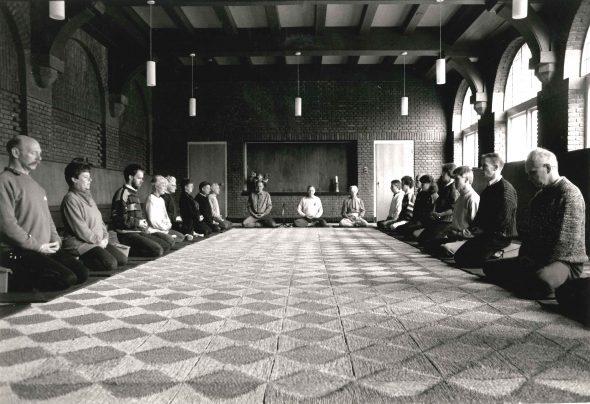 zazen in het klooster Albertinium in de jaren 90