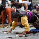 posternatie, posterneren, Tibet, Lhasa
